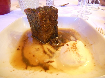 Date and Prune sticky toffee pudding